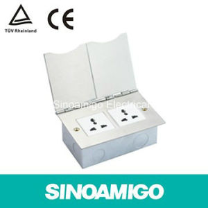 Four Modules Ground Receptacle Floor Socket Box pictures & photos