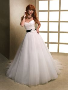 2014 White Sweetheart Empire Tulle Bridal Wedding Dress (SCL-WD039)