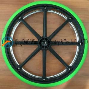 Solid Polyurethane Foam Wheel for Wheelchair Wheel (24X1 3/8) pictures & photos