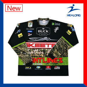 Healong UV-Protection Sportswear Customized Digital Printing Fishing Shirts pictures & photos