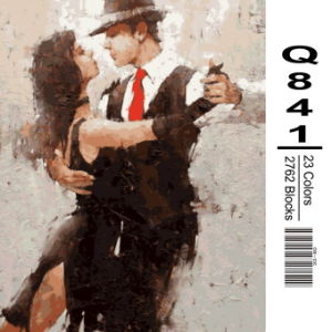 DIY Painting by Numbers Lover Picture New Hot Photo Abstract Women and Man Design pictures & photos