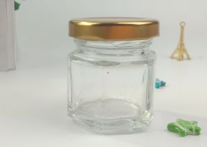 Empty Hexognal Glass Jar/ Glass Container/ Glass Bottle pictures & photos