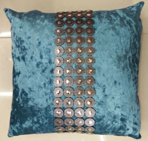 Hand-Made Decorative Cushion Hand-Sewing Diamond-Tape Pillow (XPL-29) pictures & photos
