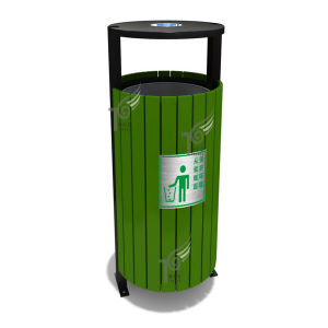 Plastic Wood/Stainless Steel/Aluminum Trash Can Supplier (TEL0456)