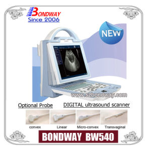 Digital Portable Ultrasound Scanner with Rechargeable Battery, LED Display