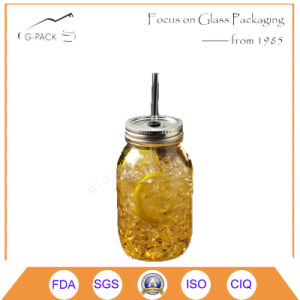 Glass Drinking Jars with Regular Mouth Lids and Bands pictures & photos