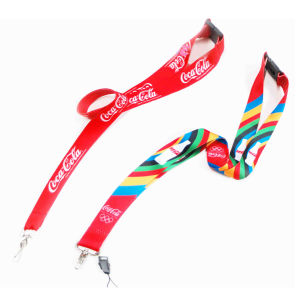 Screen Printing Custom Logo Polyester Lanyard pictures & photos