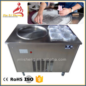 Round or Square Single Pan Thailand Roll Fried Ice Cream Machine pictures & photos
