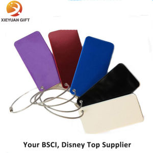 High Quality Genuine Leather Luggage Tag with Strap pictures & photos