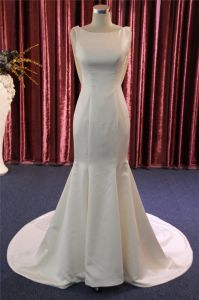 High Quality Mermaid Satin Beading Evening Bridal Wedding Dress pictures & photos