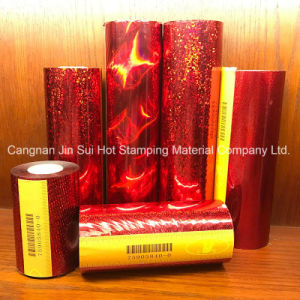 Hot Stamping Foil for Plastic (ABS/ PU/ PP/ PET/ PVC/ PPO/ Acrylic) Mat pictures & photos