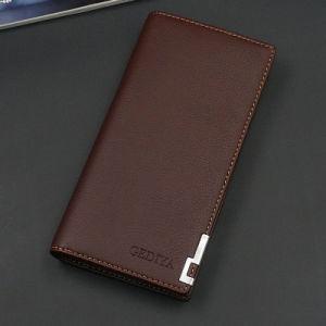 Men′s Long Wallet Multifunctional Hand Bag Multi Card Bulk Magnetic Buckle Wallet for Men pictures & photos