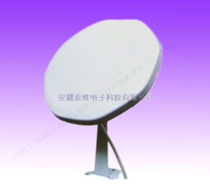 Ku Band 25cm Satellite GPS GSM TV Outdoor Digital TV GSM GPS Cable Wireless Mobile Dish Antenna LNB 10.75GHz Bulid-in for European Market pictures & photos