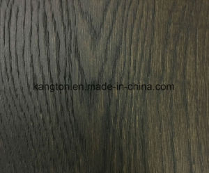 Dark Color EU Oak Engineered Wood Flooring with Less Susceptible pictures & photos