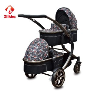 Baby Stroller with Frame and Small Seat and Small Carrycot pictures & photos