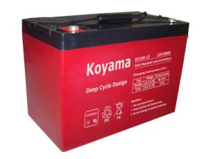 DC100-12 12V 100ah Deep Cycle Battery pictures & photos