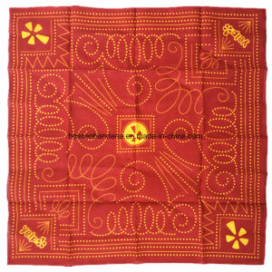 China Factory Produce Customized Design Printed 22 Inch Red Cotton Headwrap Bandanna pictures & photos