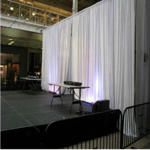 Exhibition Booth Portable Pipe and Drape Trade Show Backdrop White Velvet Supplier pictures & photos