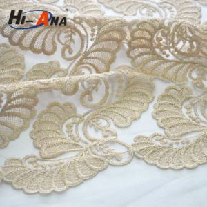 Trade Assurance Customized Logo Printed Lace Fabric with Rhinestone pictures & photos