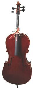 Solid Flamed Cello with Sprit Varnish Brown Color pictures & photos