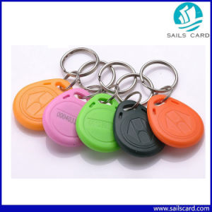 Uid Code 125kHz Blue Passive Waterproof RFID Keyfob pictures & photos