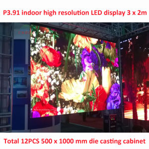 China Factory P3.91/P4.81 Indoor Clear Screen HD LED Video Wall (500*500mm/500*1000mm) pictures & photos