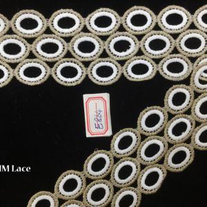 6cm Double Line Circle Pattern Lace Trim for Girl Dress or Clothes Hme864 pictures & photos