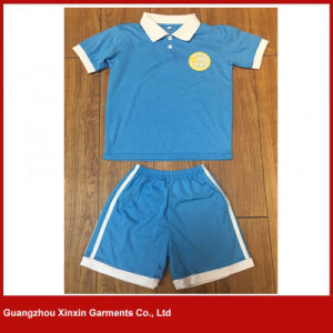 Custom Design 100% Cotton Pique School Wear Polo Shirts for Sports (U25) pictures & photos