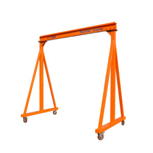 3000kg Capacity Manual Gantry Crane with Brake on Universal Wheels Save Labor Save Cost pictures & photos