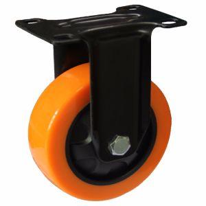 4/5 Inch Orange PU Brake Castor Wheel for Hand Trolley pictures & photos