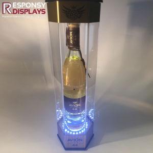 Acrylic Customized Logo LED Illuminated Display for Wine pictures & photos