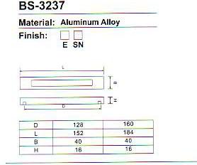 BS-3237 Aluminium Cabinet handle Series pictures & photos