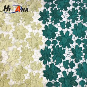 Team Race and Club Cheaper White Beaded Lace Fabric pictures & photos