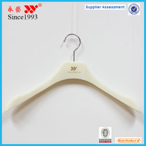 White Flocking Women Top Clothes Hanger Custom pictures & photos