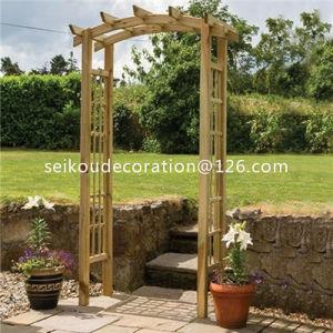 Wooden Square Top Garden Arch Ga1005