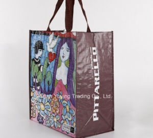 PP Fabric Handle Bag with Customized Printing (YYNWB069) pictures & photos