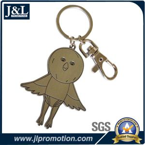 Die Casting Zinc Alloy Metal Keychain Shiny Nickel Finish pictures & photos