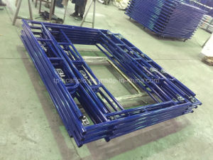 blue Powder Coated Walk Through Frame Scffolding with C-Lock pictures & photos