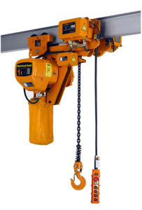 Low Clearance Electric Chain Hoist with Trolley pictures & photos