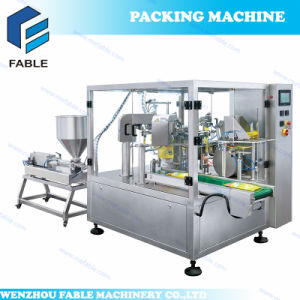 Cheapest Standing Pouch Shampoo Rotary Filling Sealing Machine (FA8-300-L) pictures & photos