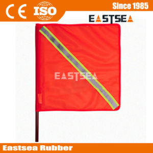 Orange Color PVC Fabric Traffic Flag with Reflective Tape pictures & photos