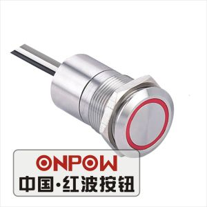 Onpow 19mm Touch Switch with Thin Light (TS19A-10/RG/5V/S, CE, RoHS) pictures & photos