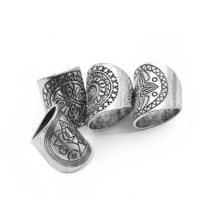 Metal Alloy Boho Beach Vintage Engraved Geometric Totem Finger Ring pictures & photos