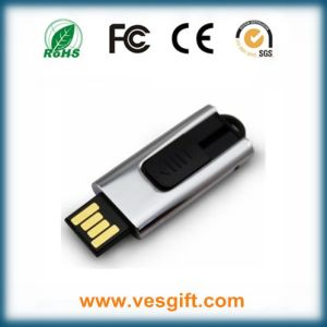 Promotional Gift Metal Sliding USB Flash Drive with Doming pictures & photos