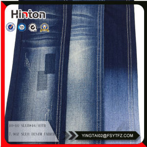 Shrinkproof Viscose Spandex Denim Fabric pictures & photos