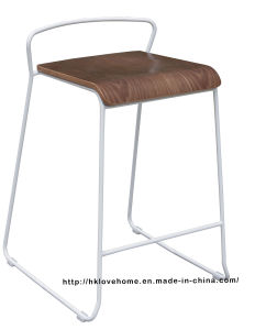 Modern Replica Steel Furniture Wooden Counter Bar Stools pictures & photos