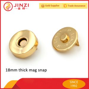 18mm Big Thick Magnetic Buttons Metal Magnetic Snap Buttons for Handbag pictures & photos