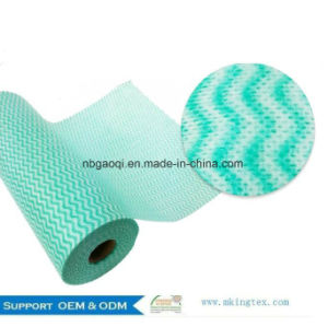 Household Cleaning Items Spunlace Non Woven Jumbo Roll Wipes pictures & photos