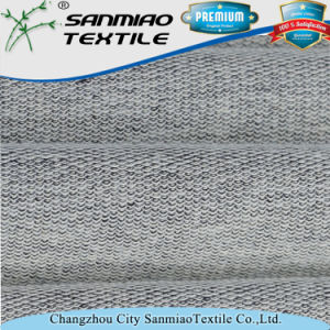Cheap 20s Yarn Deyd French Terry Knitting Knitted Denim Fabric for Garments pictures & photos