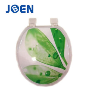 Leaves Design Hot Transfer Printing MDF Moulded Toilet Seat Cover pictures & photos